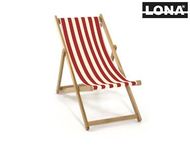 Cadeira de Descanso c/ Riscas | Vermelho