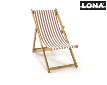 Cadeira de Descanso c/ Riscas | Bordô