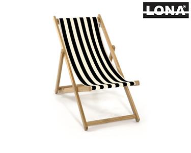 Cadeira de Descanso c/ Riscas   Preto