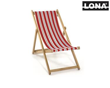 Cadeira de Descanso c/ Riscas | Vermelho e Azul