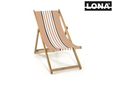 Cadeira de Descanso c/ Riscas | Camel e Bege