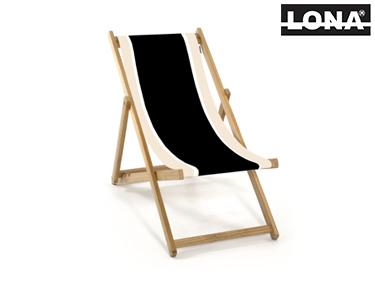 Cadeira de Descanso c/ Riscas | Preto e Bege