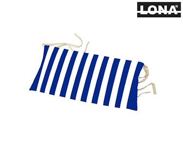 Almofada de Cabeça p/ Cadeira c/ Riscas   Azul