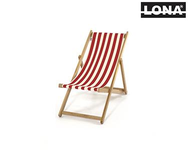 Cadeira Pequena de Descanso c/ Riscas | Vermelho
