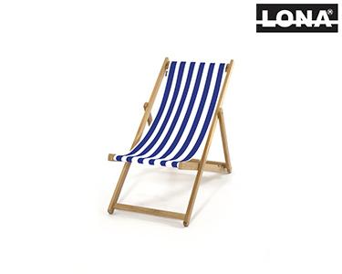 Cadeira Pequena de Descanso c/ Riscas | Azul