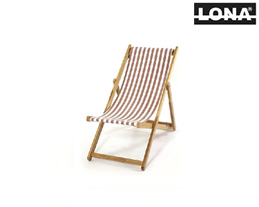 Cadeira Pequena de Descanso c/ Riscas | Bege