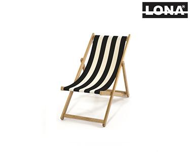 Cadeira Pequena de Descanso c/ Riscas Largas | Preto