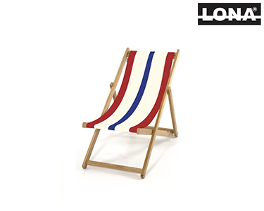 Cadeira Pequena de Descanso c/ Riscas | Vermelho e Bege