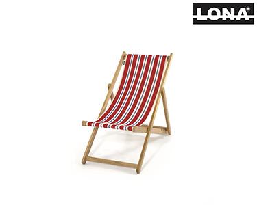 Cadeira Pequena de Descanso c/ Riscas | Vermelho e Azul