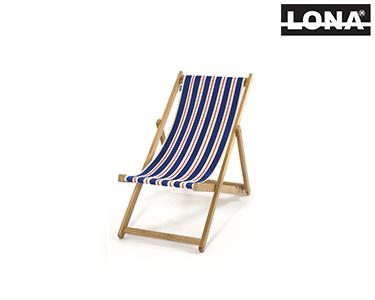 Cadeira Pequena de Descanso c/ Riscas | Azul e Bege