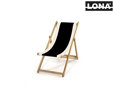 Cadeira Pequena de Descanso c/ Riscas   Preto e Bege