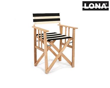 Cadeira Pequena Realizador c/ Riscas | Vermelho