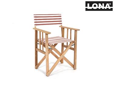 Cadeira Pequena Realizador c/ Riscas | Bordô