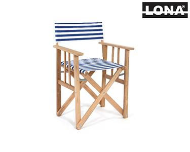 Cadeira Pequena Realizador c/ Riscas | Preto