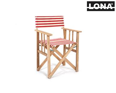 Cadeira Pequena Realizador c/ Riscas Largas | Preto
