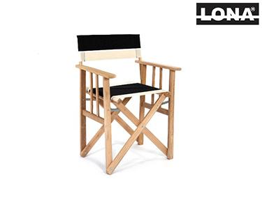 Cadeira Pequena Realizador c/ Riscas | Vermelho e Bege