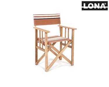 Cadeira Pequena Realizador c/ Riscas | Vermelho e Azul