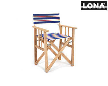 Cadeira Pequena Realizador c/ Riscas | Azul e Bege