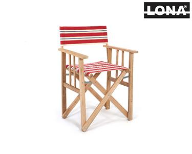 Cadeira Pequena Realizador c/ Riscas | Camel e Bege