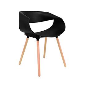 Cadeira Nórdica Cappio | Preta