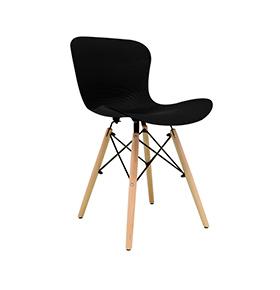 Cadeira Nórdica Klover | Preto