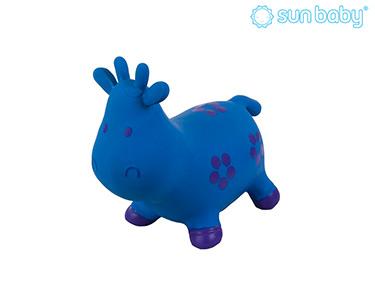 Vaquinha Saltitante Insuflável | Azul e Preto