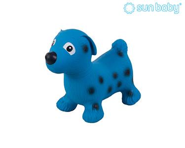 Cãozinho Saltitante Insuflável | Azul e Preto