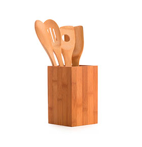 Utensílios de Cozinha de Bambu | 5 Peças