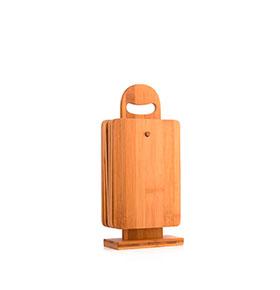 Conjunto de Tábuas de Cozinha de Bambu | 7 Peças