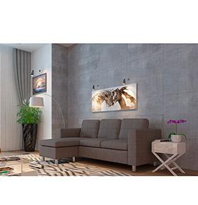 Sofá com Chaise-Longue Hilton | Cinzento
