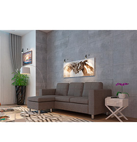 Sofá c/ Chaise Longue Hilton | Cinzento