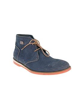 Botas em Pele Beppi®   Azul