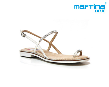 Sandálias Rasas Martina Blue® | Branco