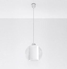 Candeeiro de Tecto NL.0149 | Branco e Transparente