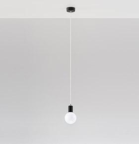 Candeeiro de Tecto NL.0150 | Branco e Transparente