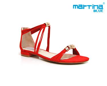 Sandálias Rasas Martina Blue® | Vermelho