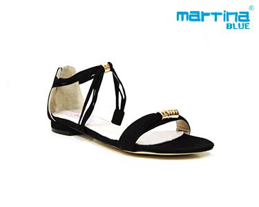 Sandálias Rasas Martina Blue® | Preto