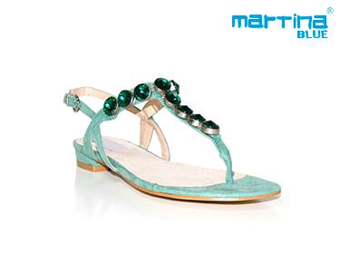 Sandálias Rasas Martina Blue® | Verde