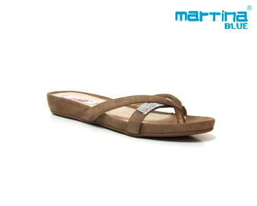 Sandálias Rasas Bianatomic Martina Blue® | Castanho