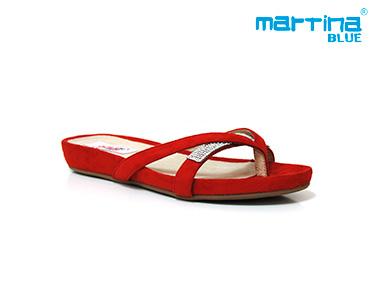 Sandálias Rasas Bianatomic Martina Blue® | Vermelho