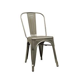 Cadeira Industrial Torix | Cinzento Galvanizado