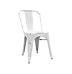 Cadeira Industrial Torix Envelhecida | Branco