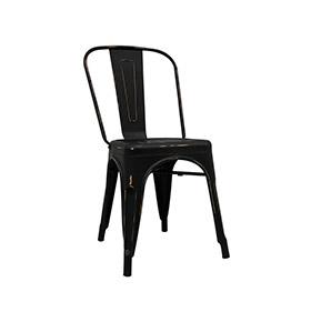 Cadeira Industrial Torix Envelhecida | Preto