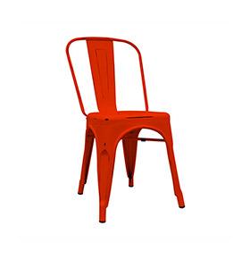 Cadeira Industrial Torix Envelhecida | Vermelho