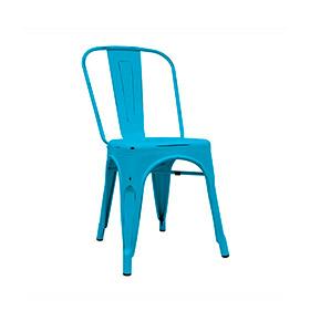 Cadeira Industrial Torix Envelhecida | Azul