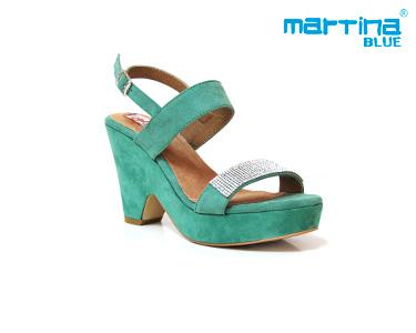 Sandálias de Salto e Cunha Martina Blue® | Menta