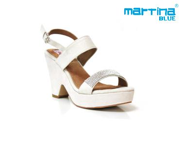 Sandálias de Salto e Cunha Martina Blue® | Branco