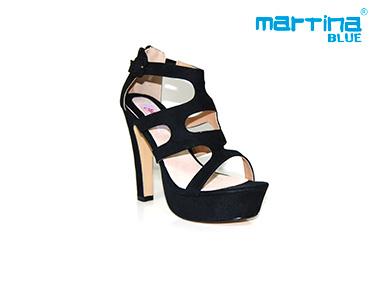 Sandálias de Salto Alto Tiras Martina Blue® | Preto