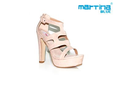 Sandálias de Salto Alto Tiras Martina Blue® | Torrado
