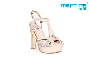 Sandálias de Salto Alto Martina Blue® | Bege